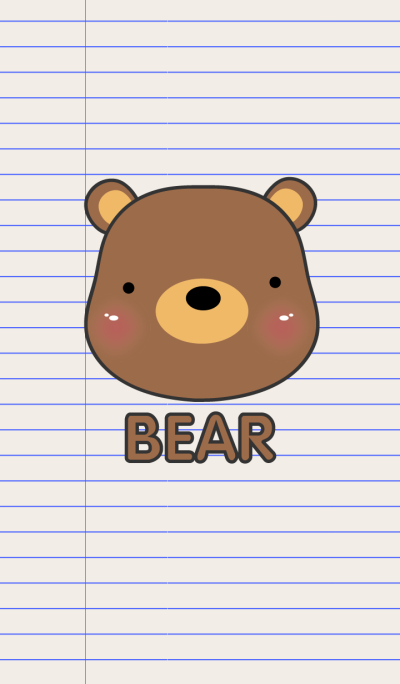Simple Bear On Paper theme V.2(jp)
