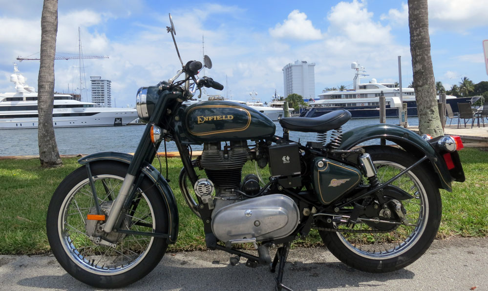 Royal Enfield motorcycle.