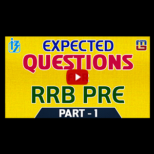 Expected Questions For RRB PRE | Part 1 | Reasoning | IBPS RRB Special 2017