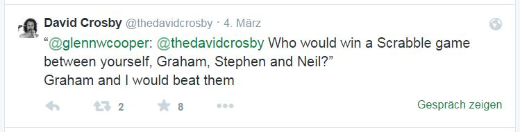 David Crosby. Neil Young auf Twitter