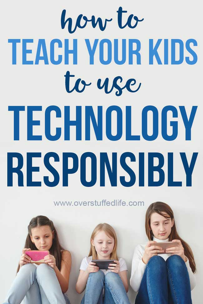Teach your children to use technology in a responsible, healthy way. 5 tips for parents to help children learn to use phones and other tech devices appropriately.