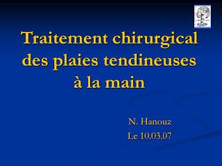 Traitement chirurgical des plaies tendineuses à la main .pdf