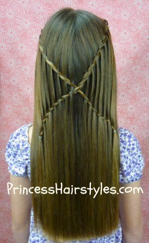 criss cross waterfall twist braids