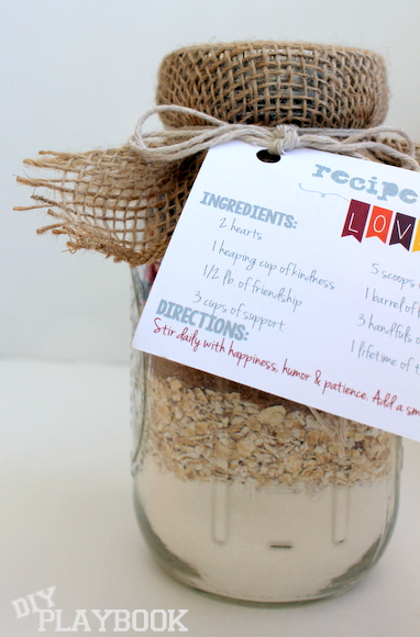 mason jar recipe and free printable