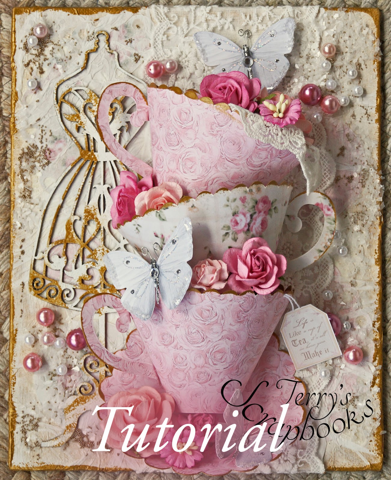 Terrys scrapbooks reneabouquets 3d tea cup canvas design team i put them together in my own way to create this canvas i made a video tutorial as i made it in case you would like to make one too baditri Image collections