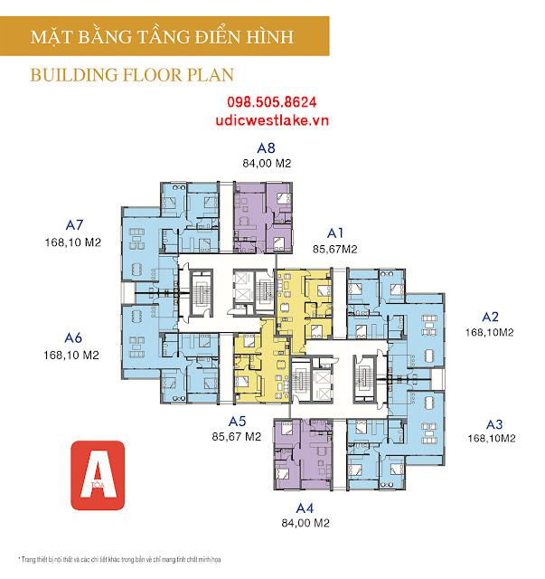 Bảng giá dự án chung cư UDIC Westlake