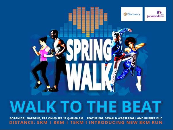@Discovery_SA @JacarandaFM #SpringWalk Promises a Fun Family Walk and Run #9Sep2017