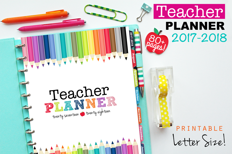 picture about Printable Teacher Planner called Refreshing Everyday living and House: The Printable Instructor Planner inside 3 Models!