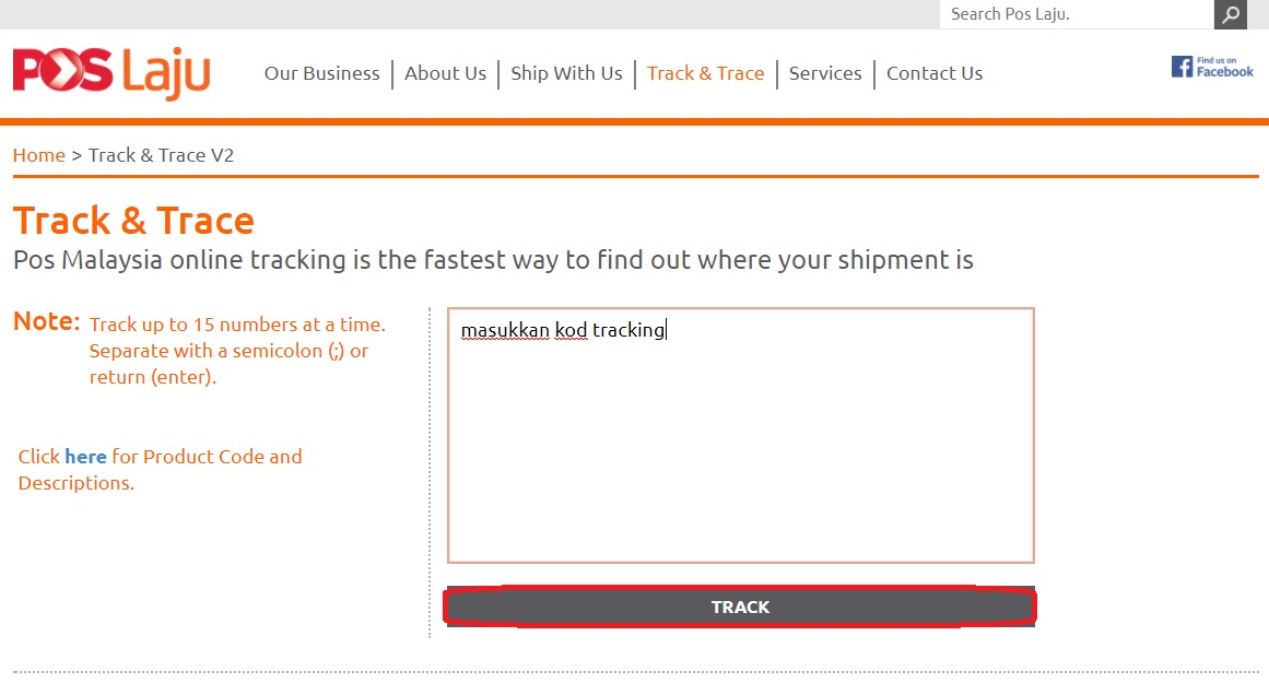 Cara Semak Tracking No Pos Laju Malaysia