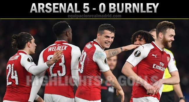 cuplikan gol arsenal vs burnley 6 mei 2018 5-0
