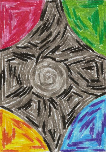 Vier Farben