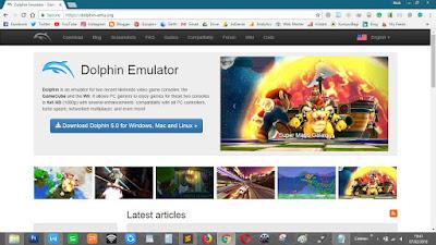 Website resmi Dolphin Emulator Nintendo Wii