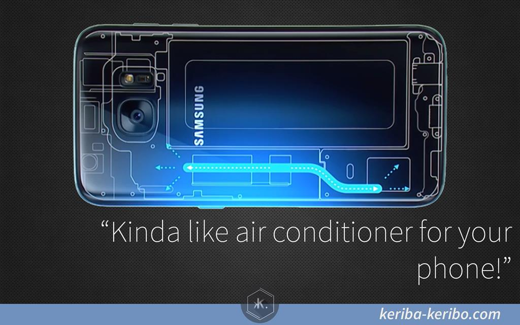 new liquid cooling system on samsung galaxy s7 and s7 edge