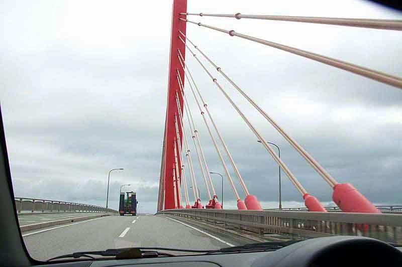 causeway bridge, island