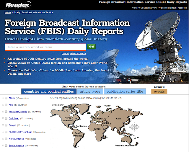 Foreign Broadcast Information Service (FBIS) Daily Reports