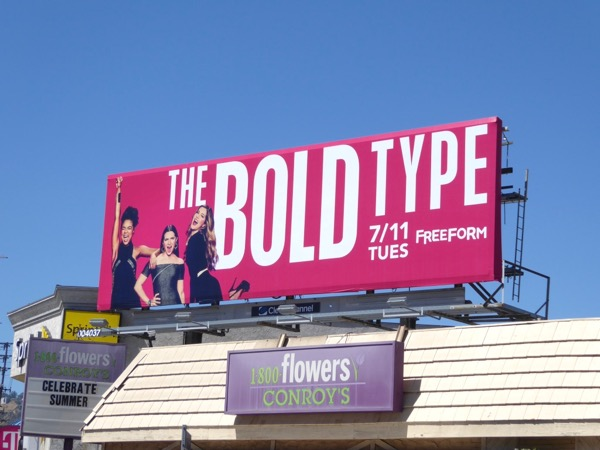 Bold Type series premiere billboard