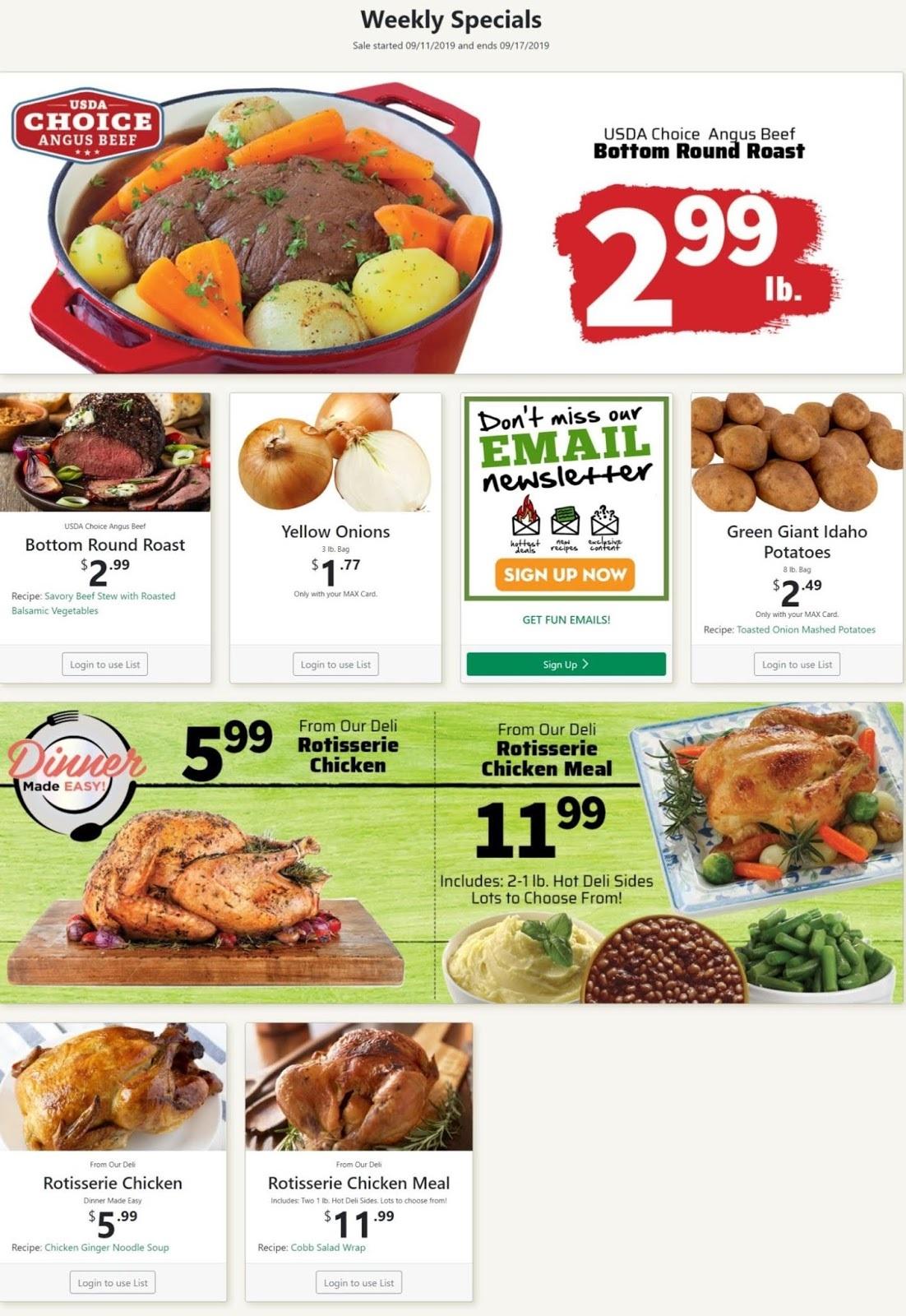 ⭐ County Market Ad 9/18/19