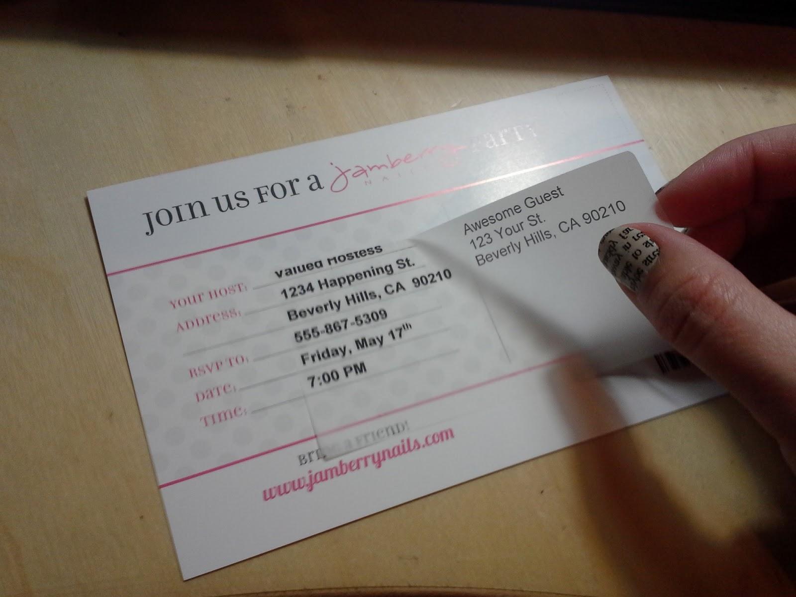 Printable Jamberry Invitations