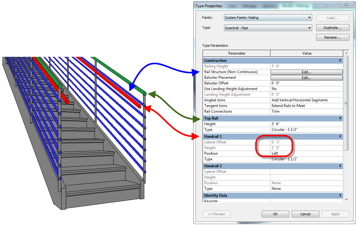Applied Software Blog: Revit Railings - How to move the handrail