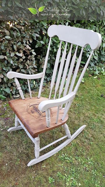 ricolorare una sedia a dondolo