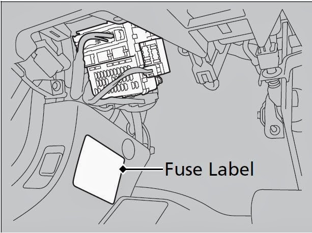 Cars & Fuses: 2013 - 2014 Honda Accord Sedan - Fuse Panel
