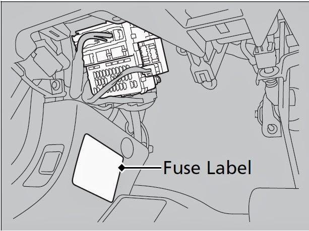 Cars & Fuses: 2013 Honda Accord Sedan  Fuse Panel