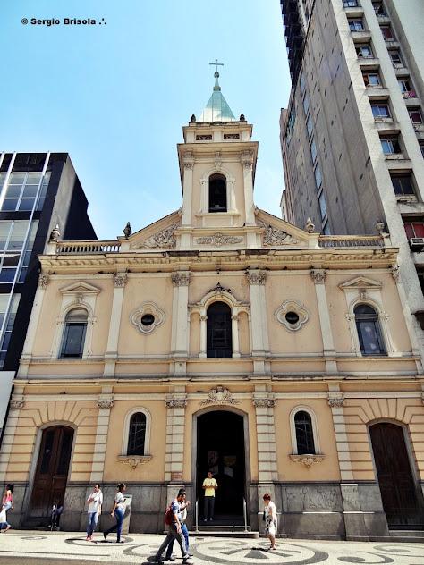 Vista da fachada da Igreja Santo Antonio - Patriarca - Centro - São Paulo