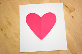 how to draw step-by-step 3D optical illusion kids heart art and craft project for Valentine's Day