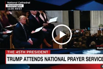 Video! Lihatlah Reaksi Presiden AS Donald Trump Saat Dengarkan Ayat Suci Al-Qur'an