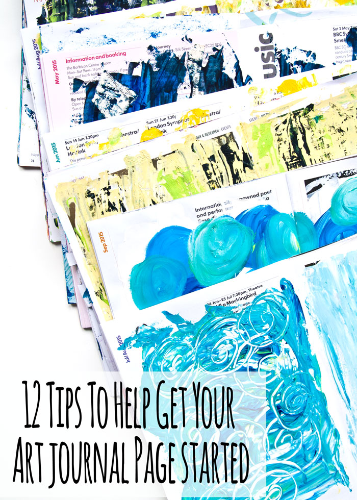 12 Tips For Starting Art Journal Pages Using Acrylic Paint with a video by Kim Dellow
