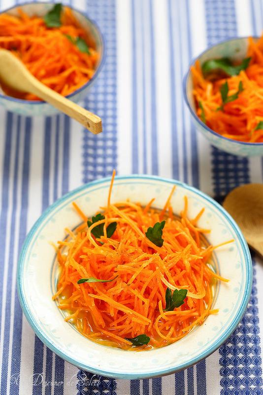 Salade marocaine carottes orange