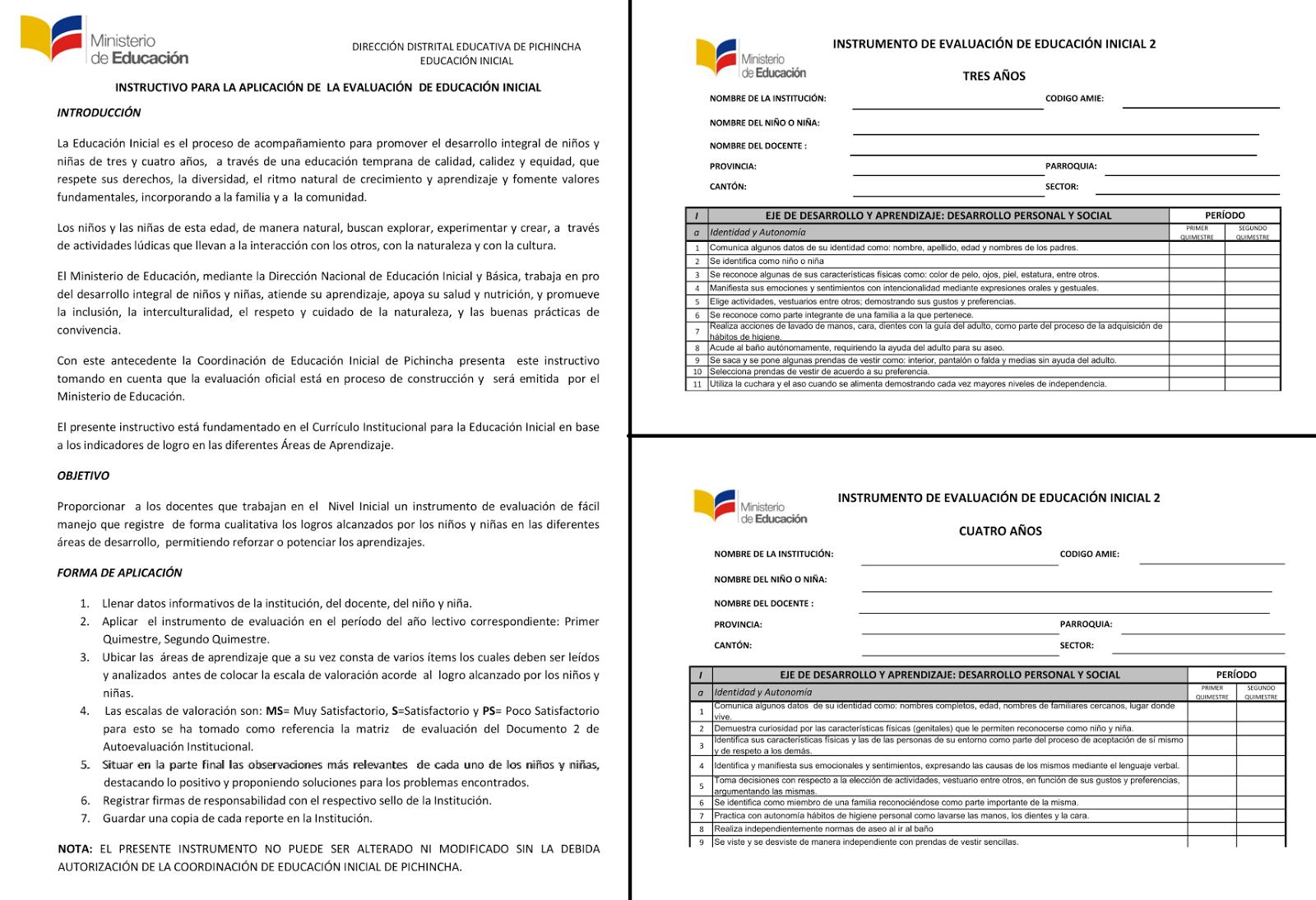 Instrumento de evaluacion de inicial 2 ni os de 3 4 for Curriculum de nivel inicial