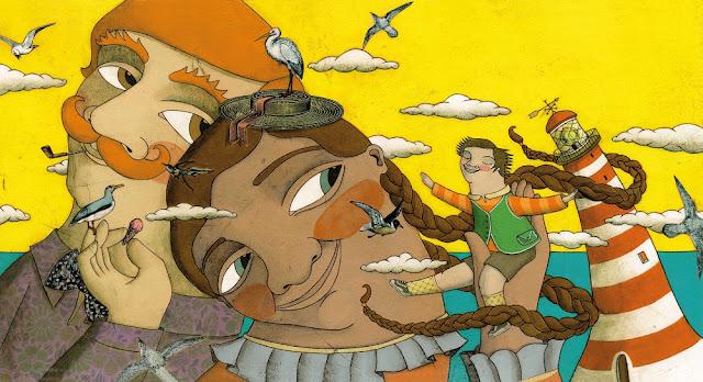 """Ilustração de Aitana Carrasco para o livro """"Gigante Pouco a Pouco""""."""