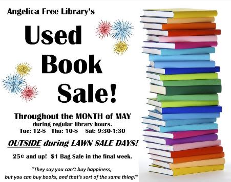 Month Of May Used Book Sale Angelica