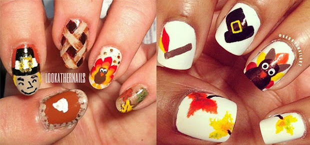 fun and easy thanksgiving day nail