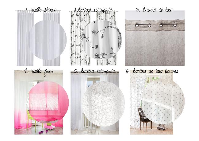 Selección de compras cortinas estilo nórdico