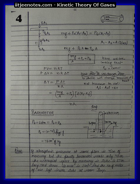 Kinetic theory of gases IITJEE4