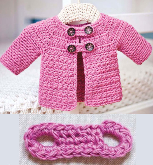 Buttoned Baby Jacket - Free Pattern