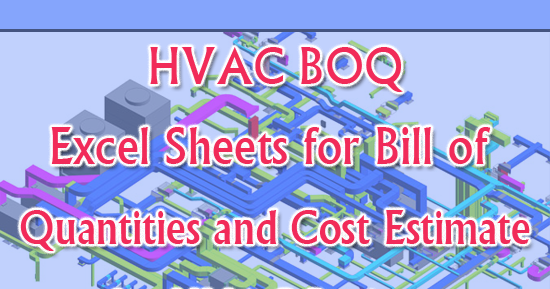Download Hvac Boq Bill Of Quantities And Cost Estimate