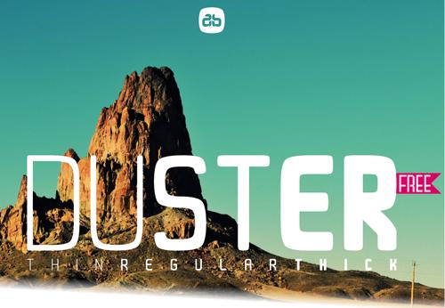 Font Commercial Gratis Terbaru Untuk Desainer Grafis - Duster Free Font
