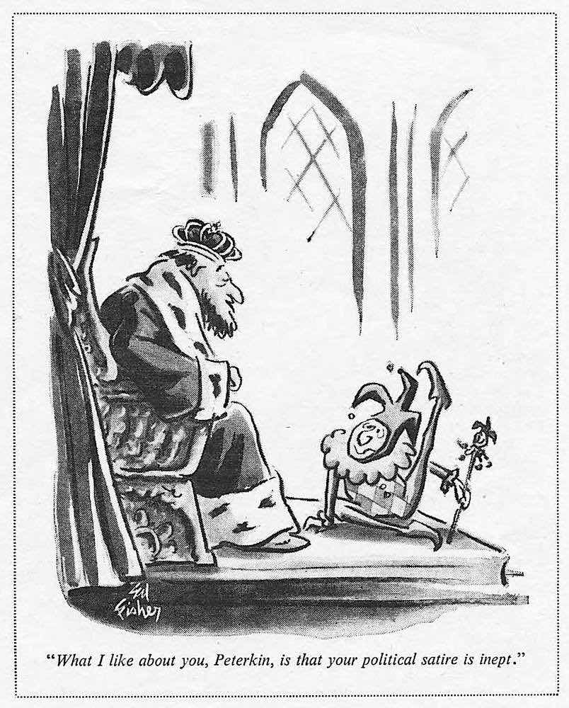 a 1966 Ed Fisher cartoon about a king and his jester