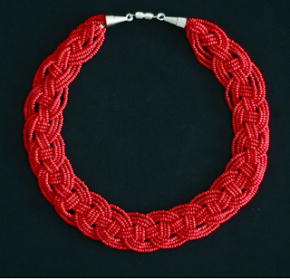 seed bead braided or woven necklace tutorial