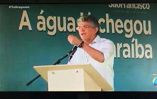 Ricardo Coutinho elogia Lula, Dilma e Ciro Gomes na cerimônia da transposição