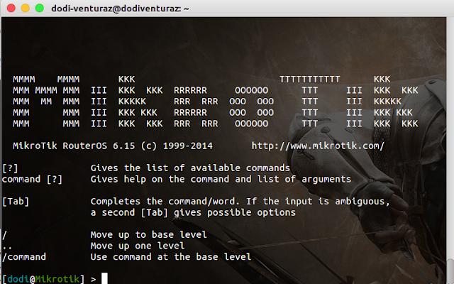 Cara Remote Router Mikrotik dengan SSH Melalui Terminal Linux