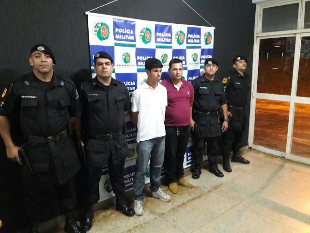 Indivíduos são presos roubando transeuntes em Senador Canedo
