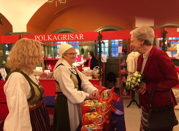 Princess Benedikte opened Swedish Church Christmas Bazaar in Østerbro