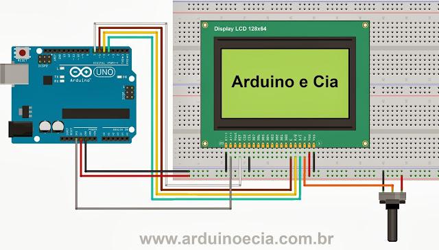 Ligação Arduino - Display LCD 128x64 - ST7920