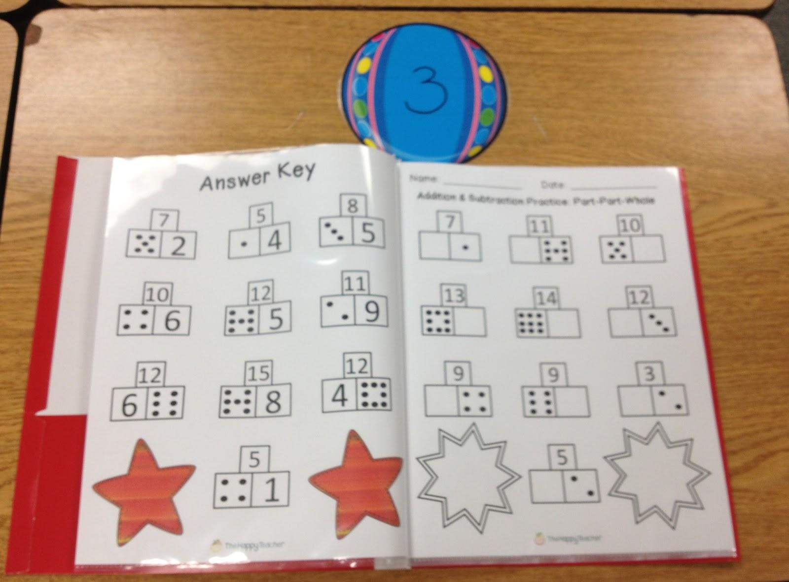 Workbooks Part Part Whole Math Worksheets First Grade Free