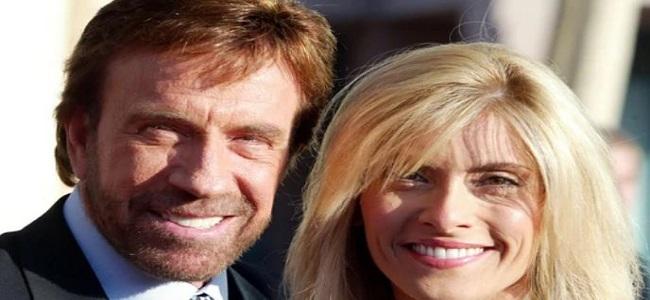Chuck Norris junto a su mujer Gena