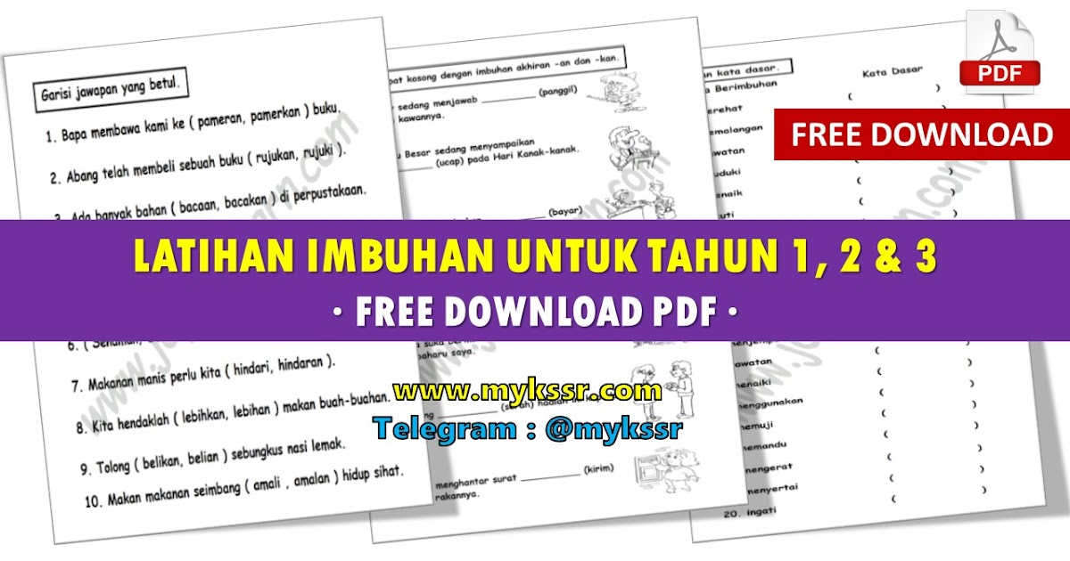 Latihan Imbuhan Untuk Tahun 1 2 3 Free Download Pdf